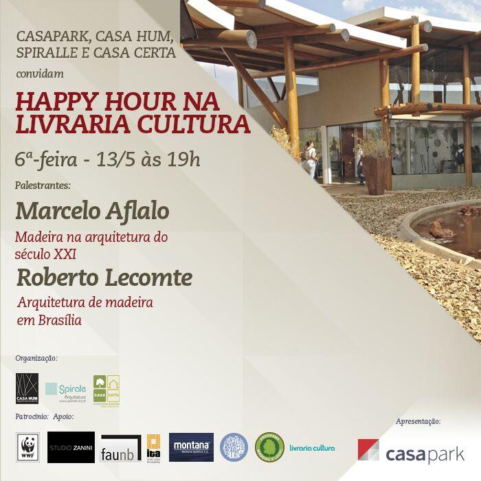 Happy Hour na livraria Cultura do CasaPark